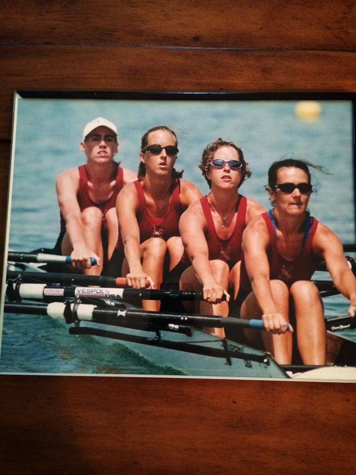 Check me out in my super sweet Oakleys rowing as a member of a lightweight quad at Vesper Boat Club.