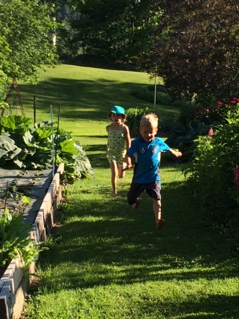 Happy running and adventuring this weekend! Here are my two little runners racing in Grammy's garden!