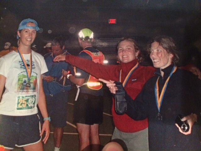 This was probably more like 8 years ago but these are the two ladies who truly got me into running.  This was taken at the Vermont 100 on 100 Relay which we completed as a 4 person women's Ultra Team. This was back before I discovered Skirt Sports and used to run in shorts (eeek!!!)