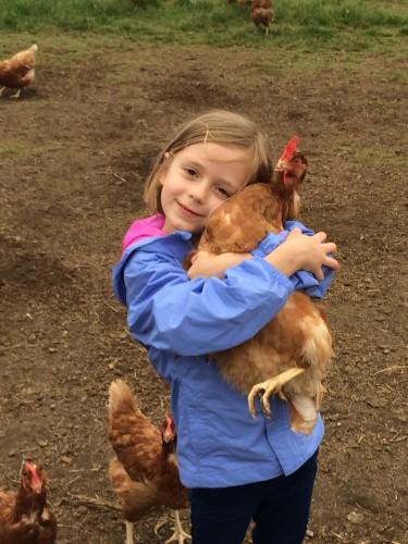 Organic Runner Girl loves our hens