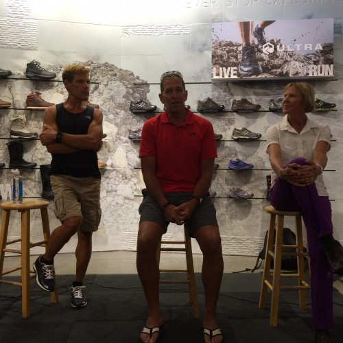 the North Face Endurance challenge Pre-Race Panell, Dean Karnazes, Nick Moore, and Diane Van Deren