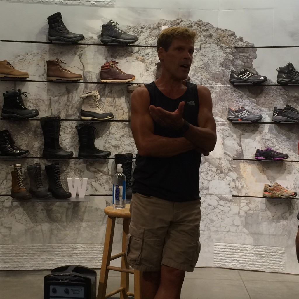Ultra Runner Dean Karnazes giving running advice