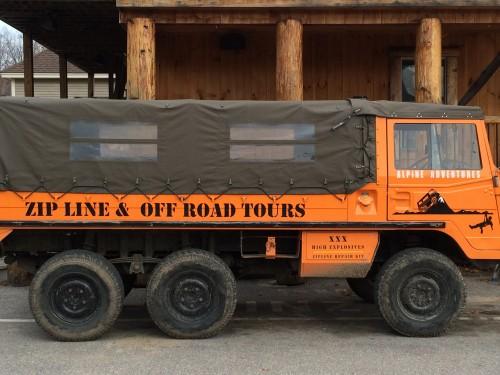 Off-Roading Vehicle at Alpine Adventures Zipline tours