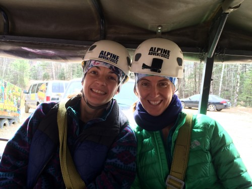 Geared up and ready to go zip lining!