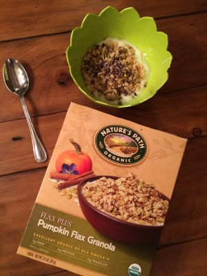 Pumpkin Flax granola Yogurt Bowl