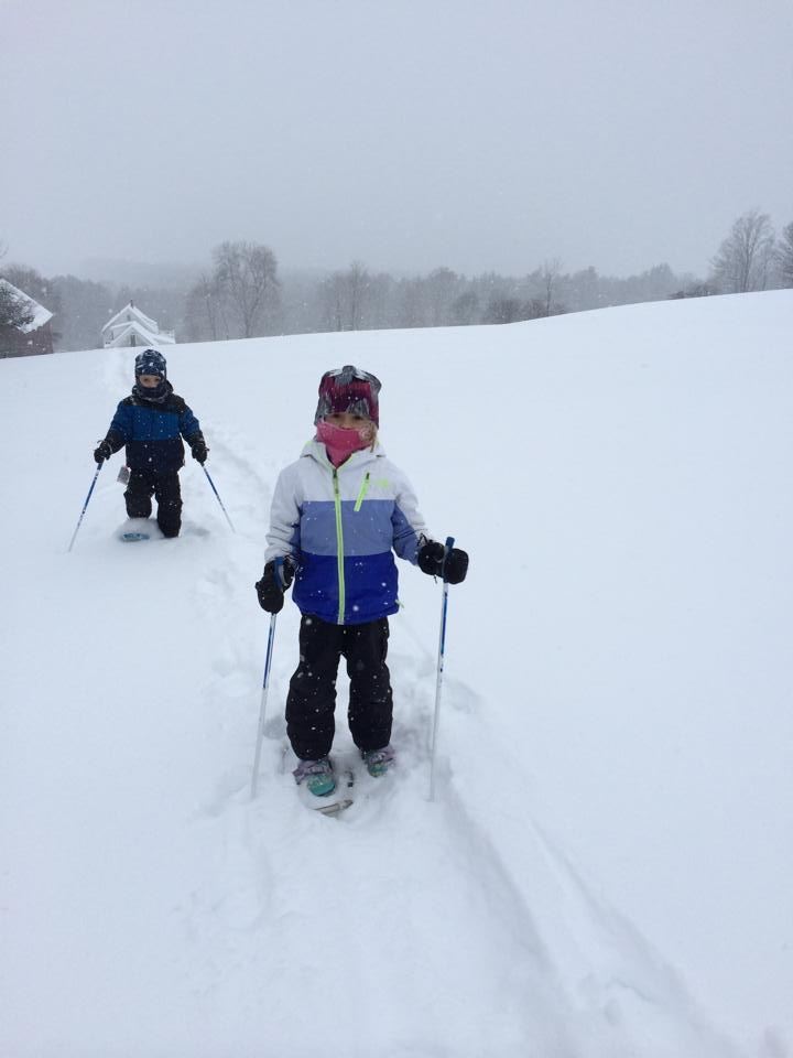 Snowshoeing is one of the kids favorite winter activities.