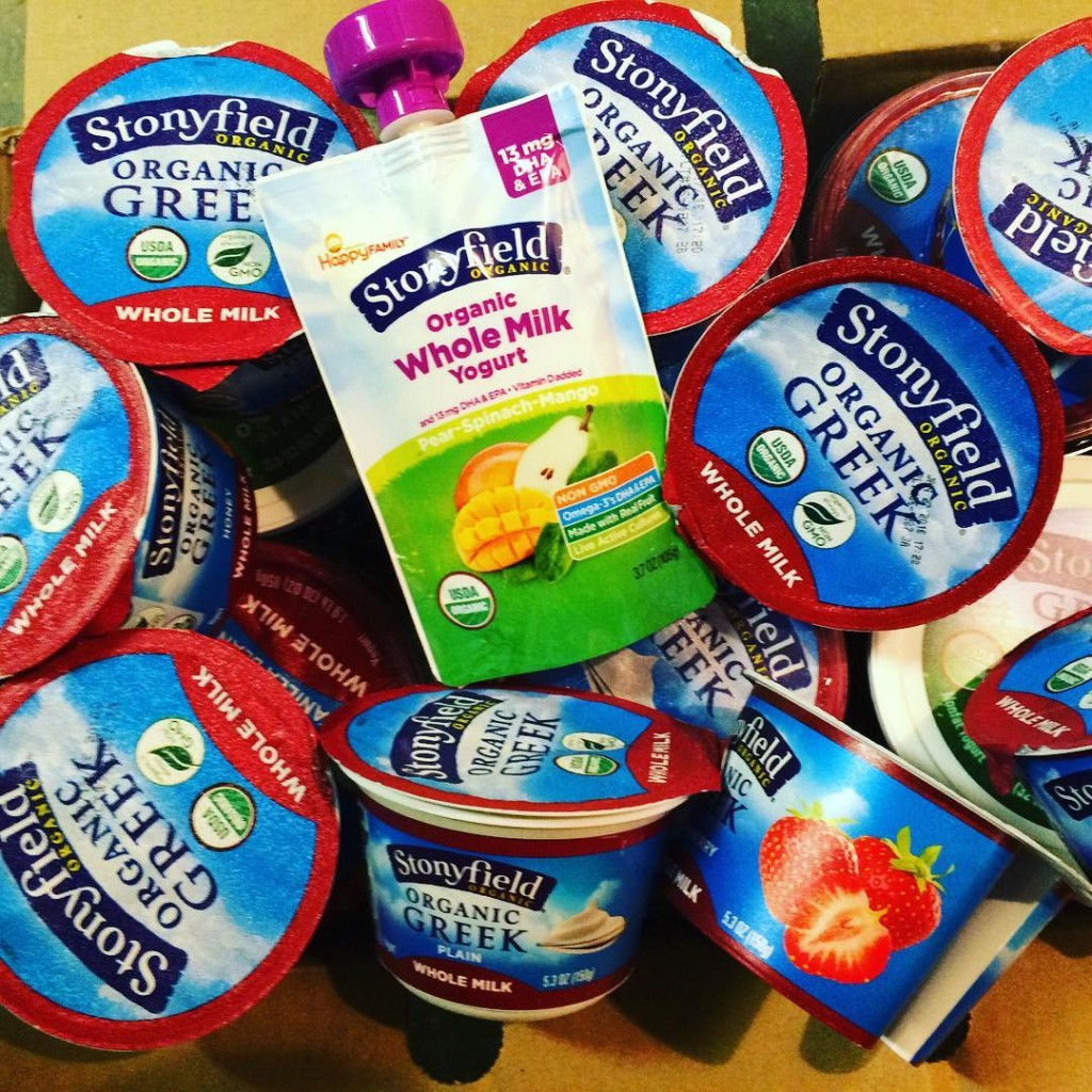 Choose Organic Food. Stonyfield Yogurt.
