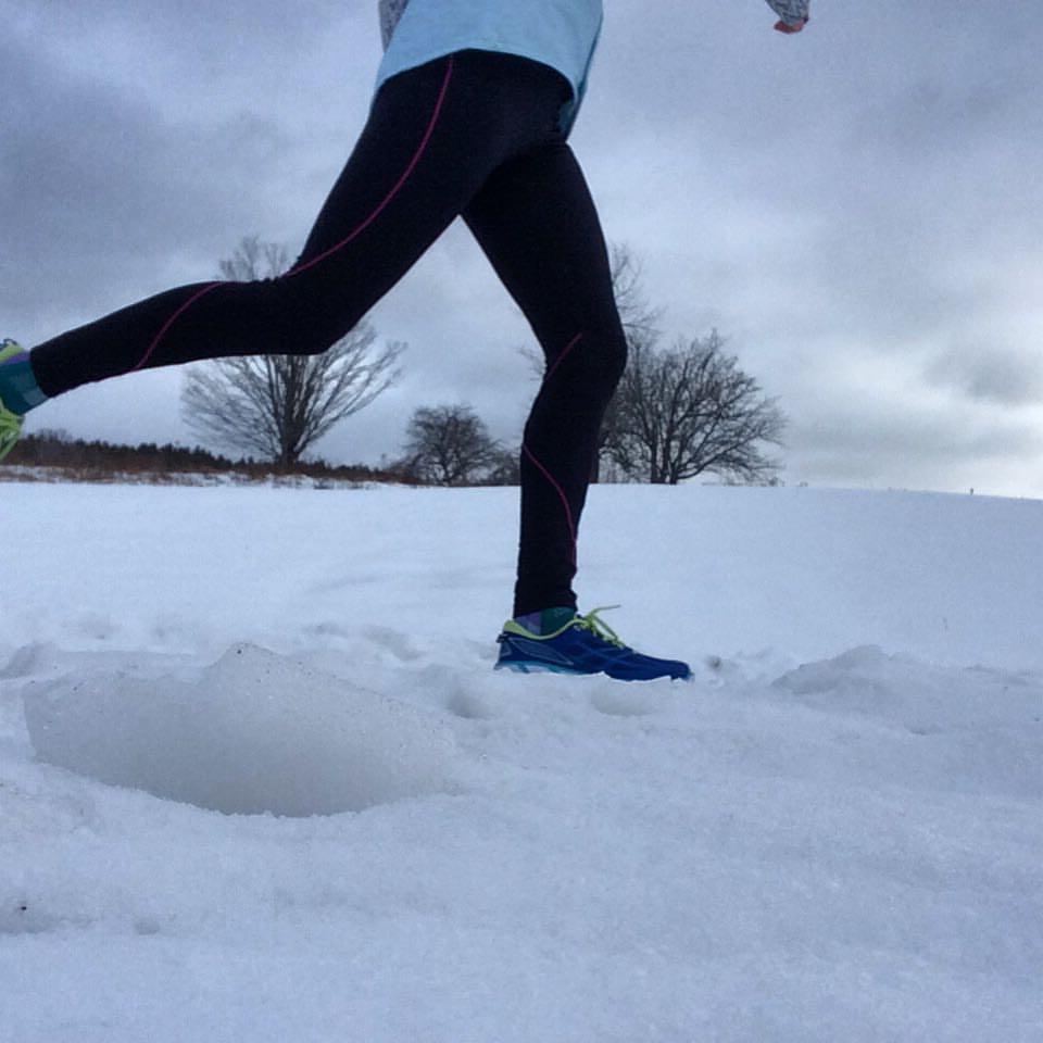 Floating through the miles. Boston Marathon training