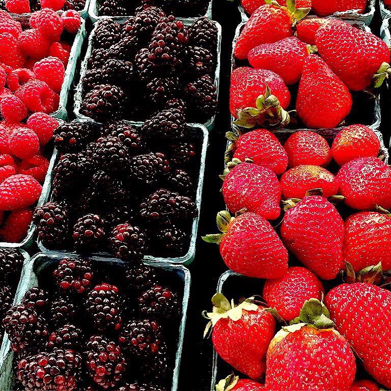 Fresh berries at a farmer's market