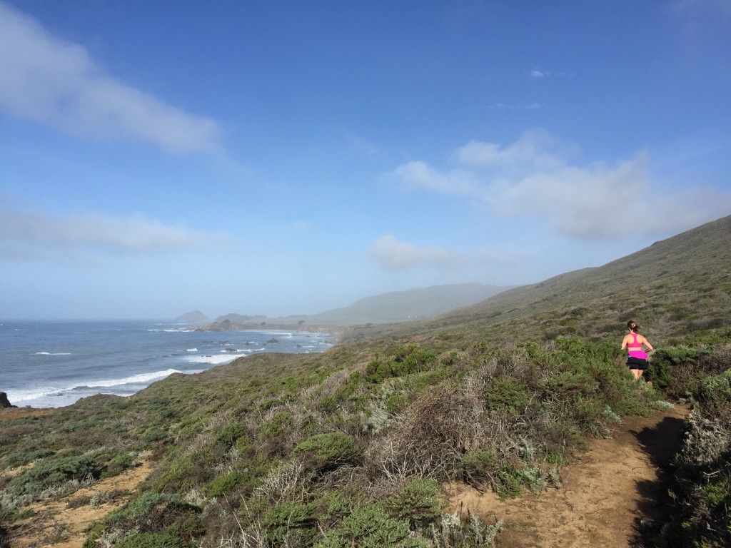Training for the Boston Marathon on our trip to Big Sur. #TeamStonyfield
