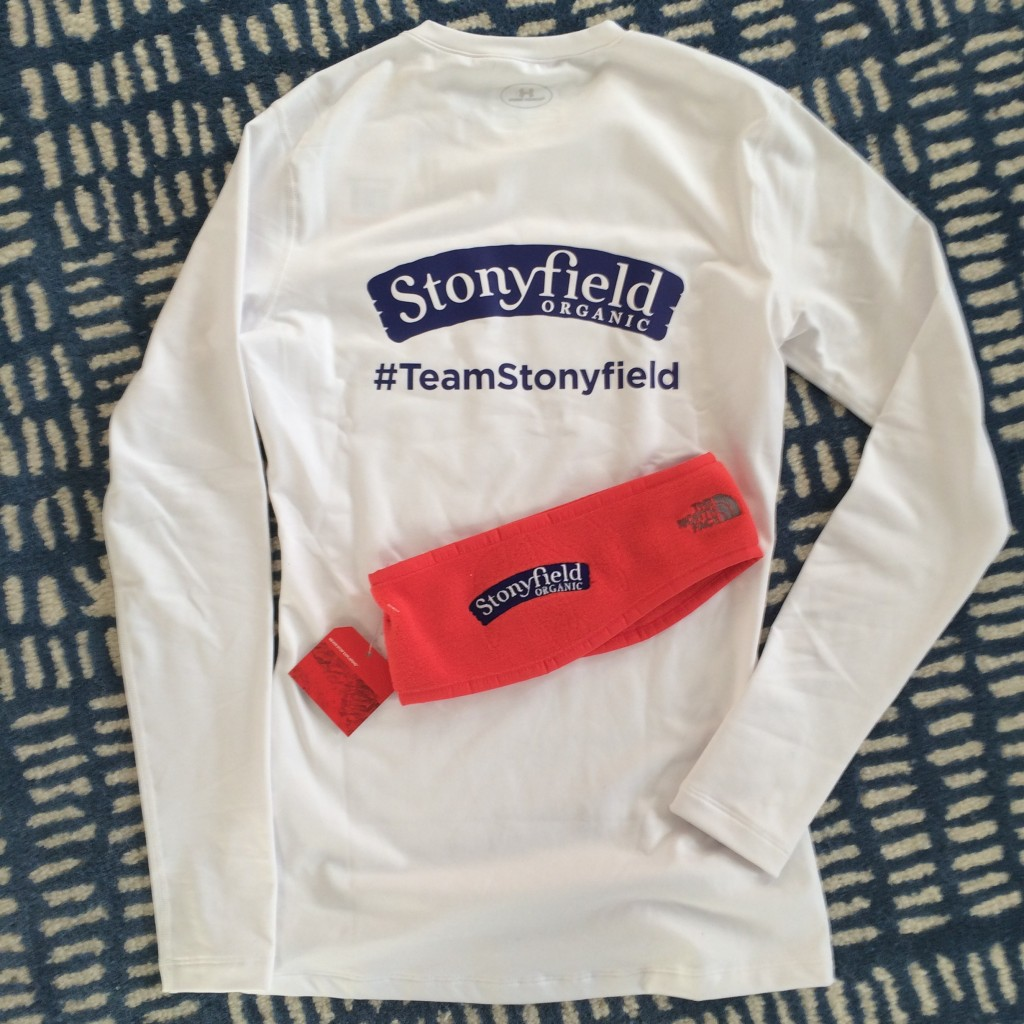 Boston Marathon. Team Stonyfield