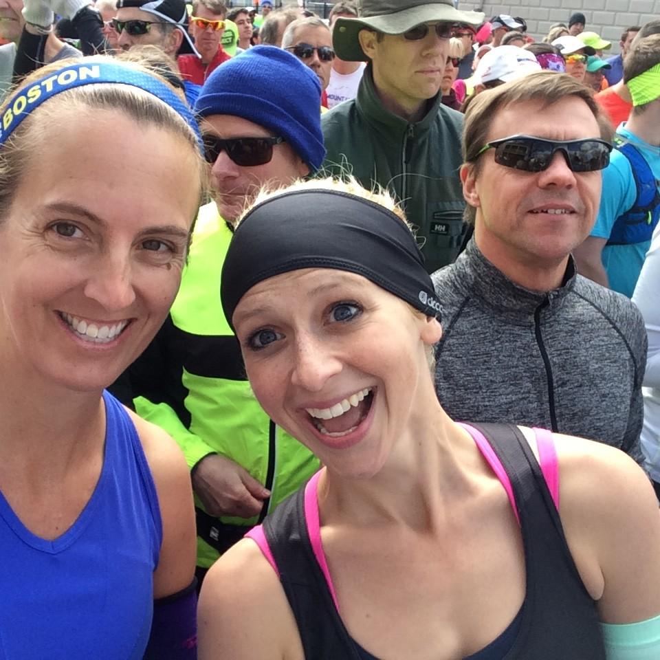 Organic Runner Mom and Run Far Girl getting ready to run the Eastern States 20 Miler
