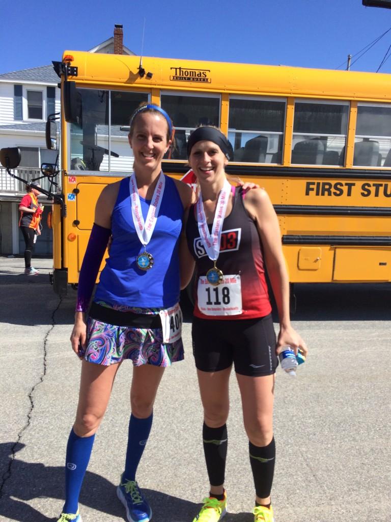 Organic Runner Mom and Run Far Girl at the finish!