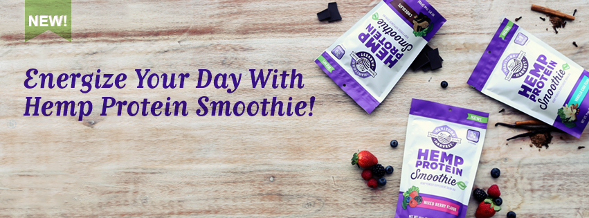 Energize your smoothie with hemp protein smoothie mix!