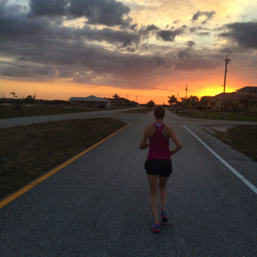 Sunset Running in Florida