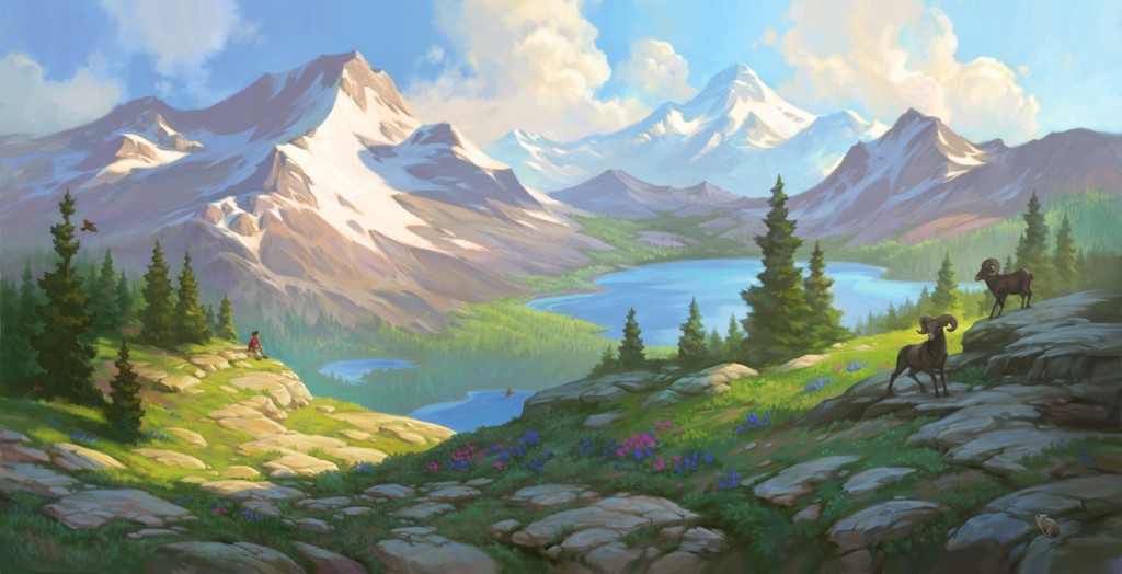 The Mountains–Illustration by David McClellan for The Boy Who Spoke to the Earth