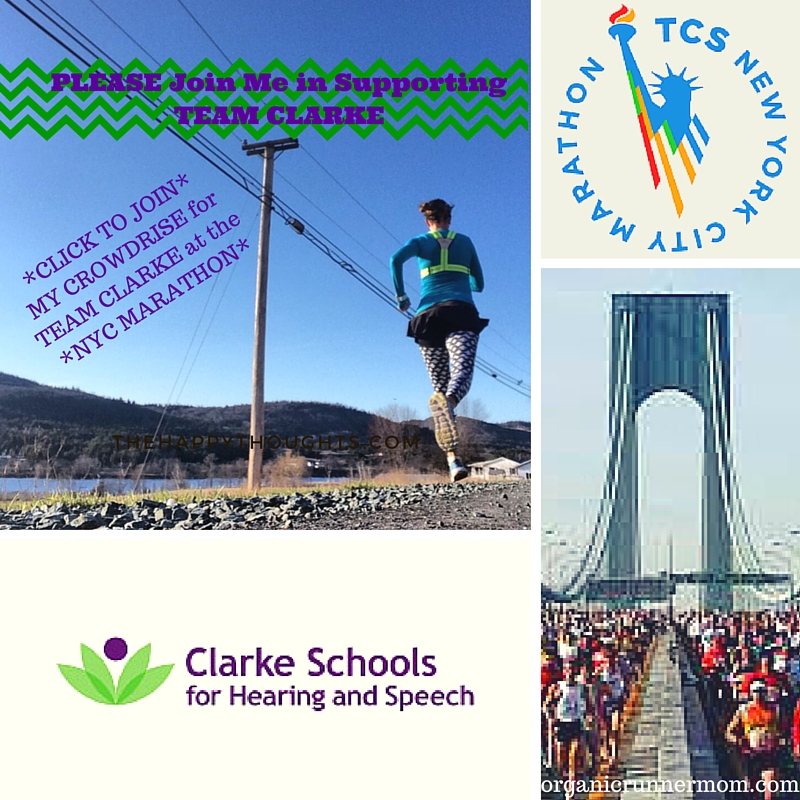 CLICK to join my CROWDRISE to support the Clarke Schools For Hearing and Speech at the NYC Marathon