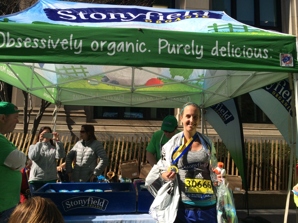 Thank you so much to Stonyfield Yogurt for giving me the amazing chance to run the Boston Marathon again this year and for fueling my training with so much great Organic Yogurt!