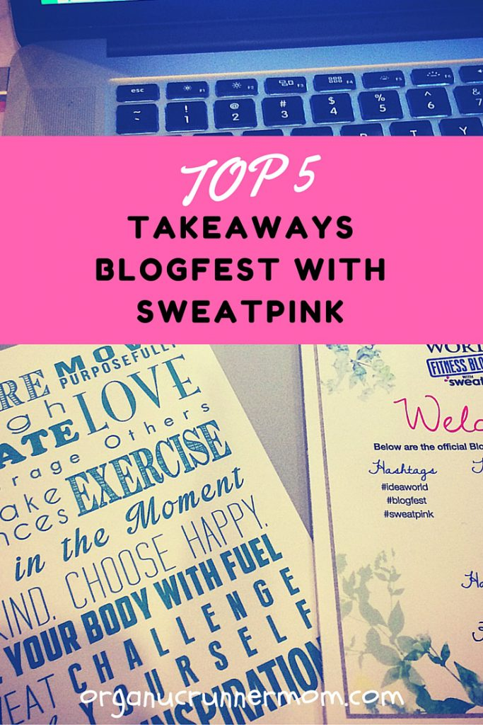 Top 5 Takeaways BlogFest with SweatPink