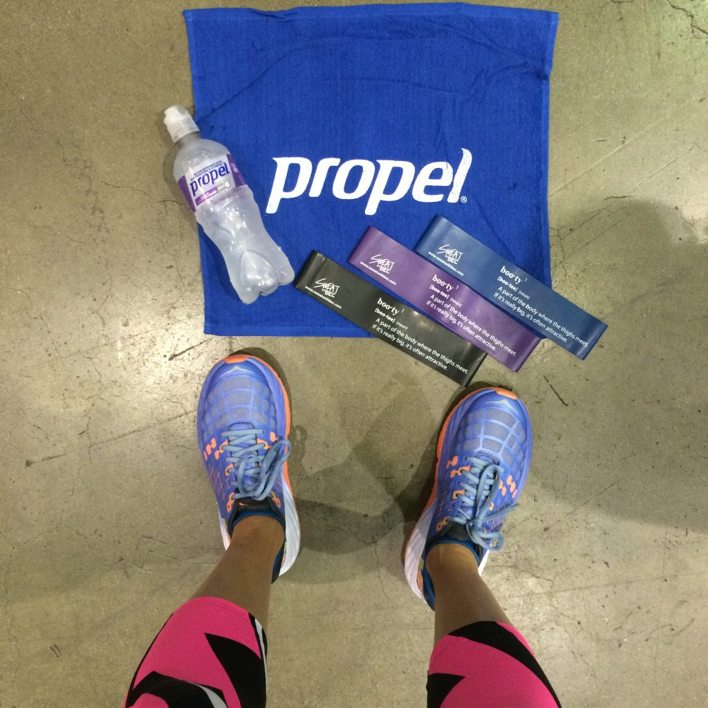Propel Fitness Water sponsored our workout with Gunnar Peterson