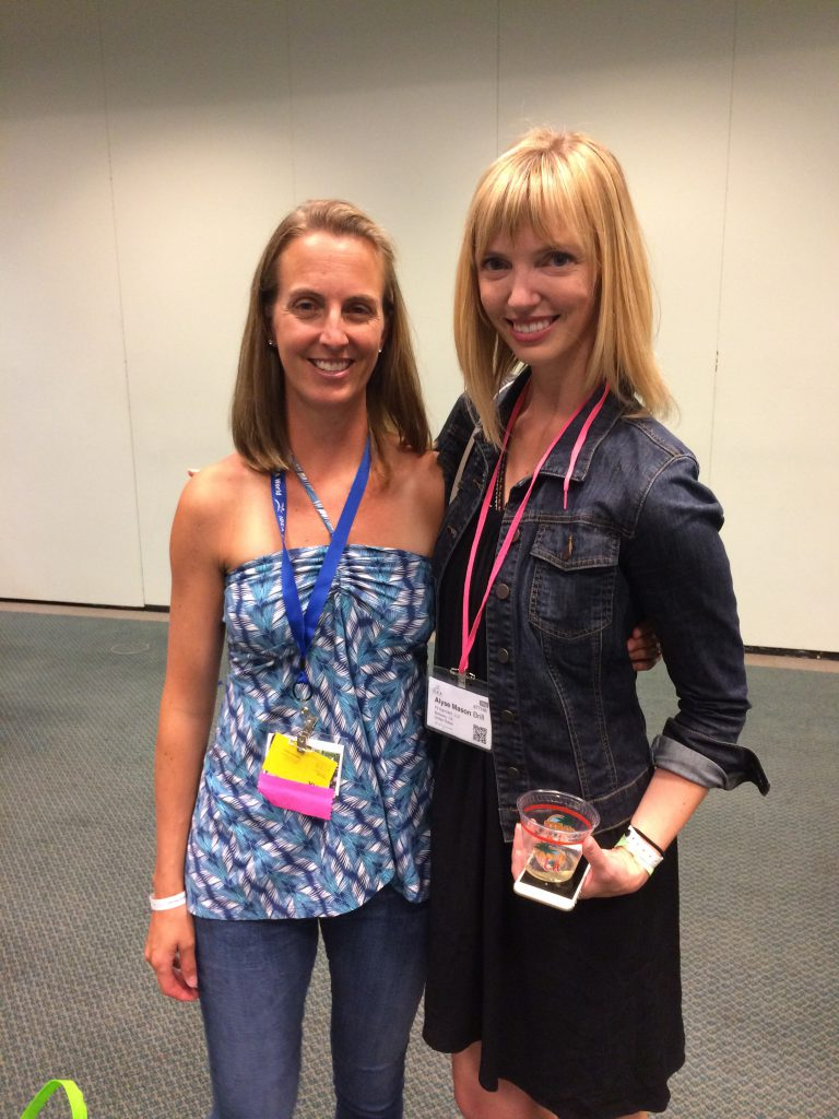 With the lovely Alyse founder of Fit Approach and SweatPink