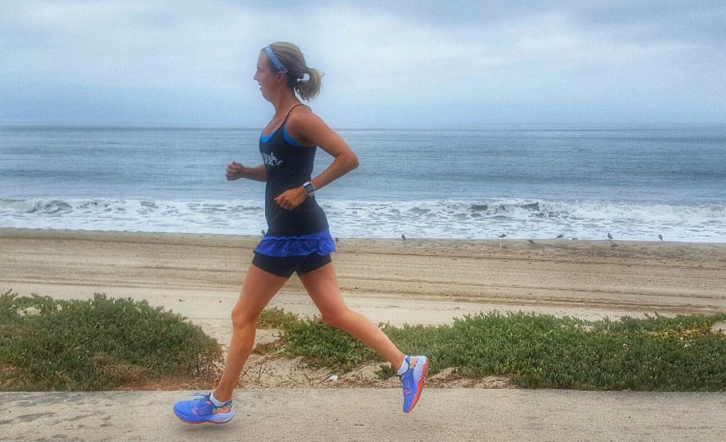 Running along the California Coast