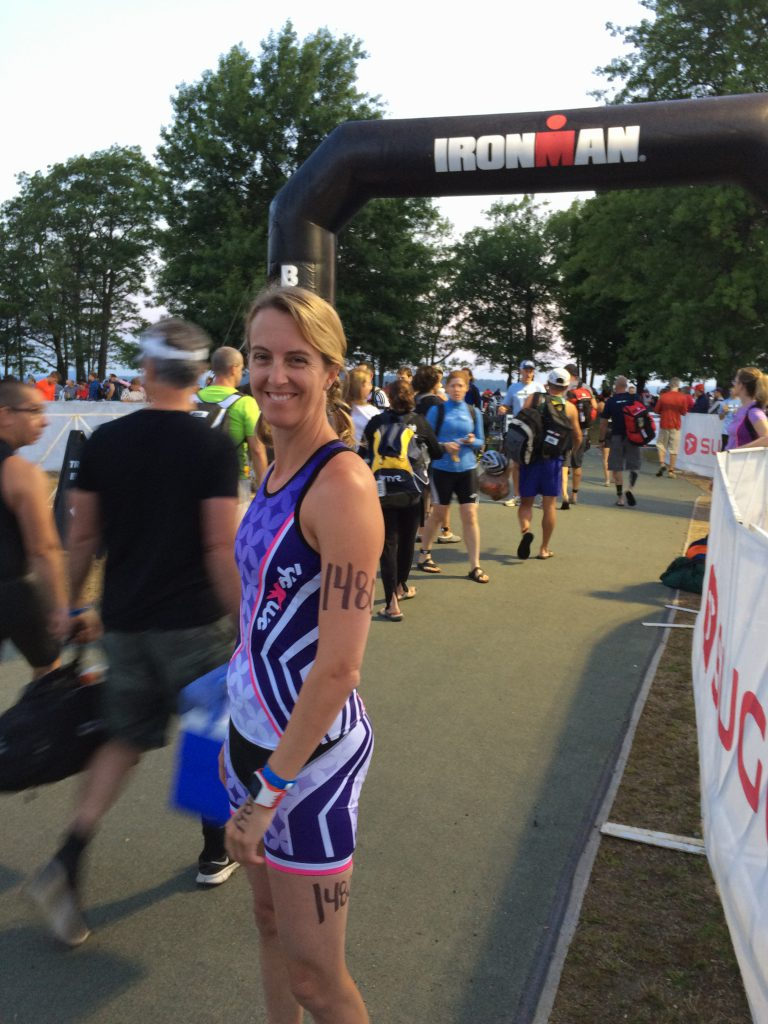 Here I am on race morning in 2015 at the Timberman Ironman 70.3