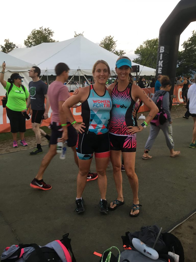 Let's do this! Race morning at the Timberman Half Ironman