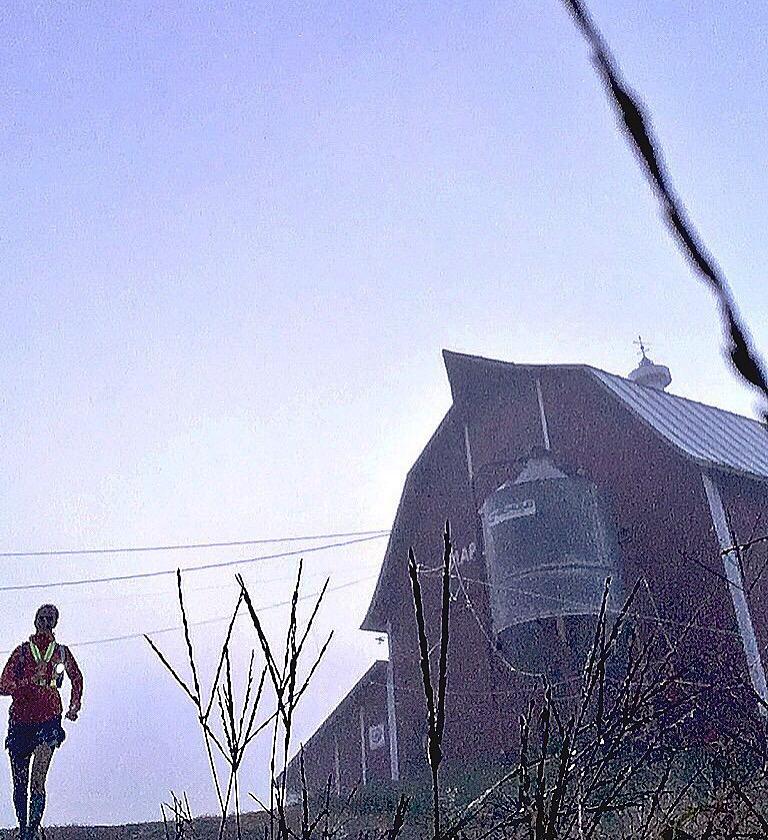 Early morning fog run