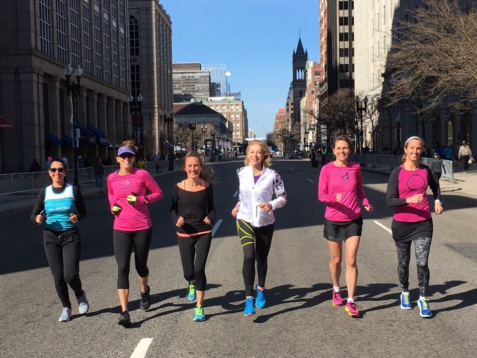 Shake out run with Kathrine Switzer and the 261 Fearless Ambassadors during the 2016 Boston Marathon Race weekend.