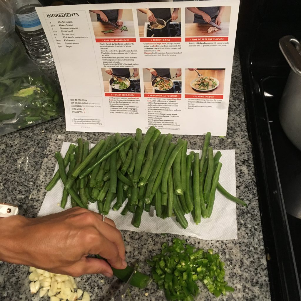 Meal Prep 101. Nicely Chopped Allie. Sorry about the pepper in your eye!