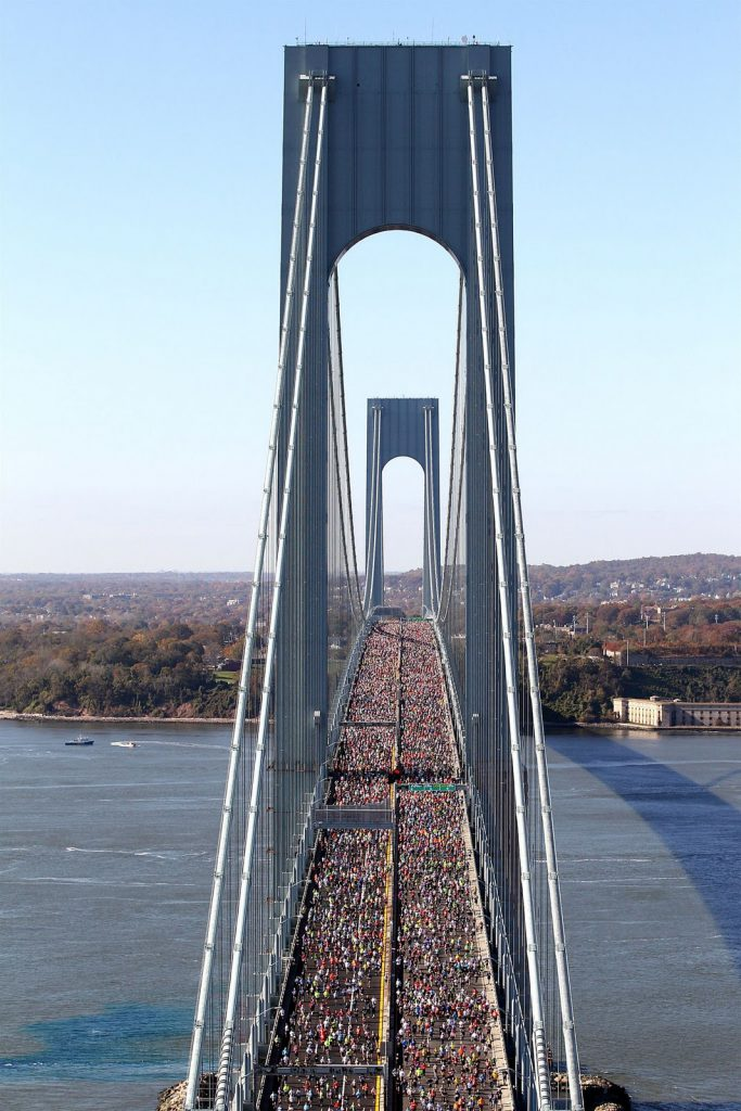 Verrazno Bridge filled with NYC Marathon runners!