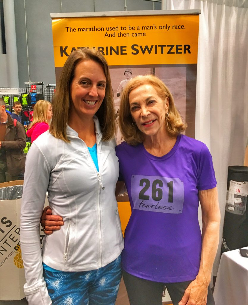 Kathrine Switzer and Organic Runner Mom