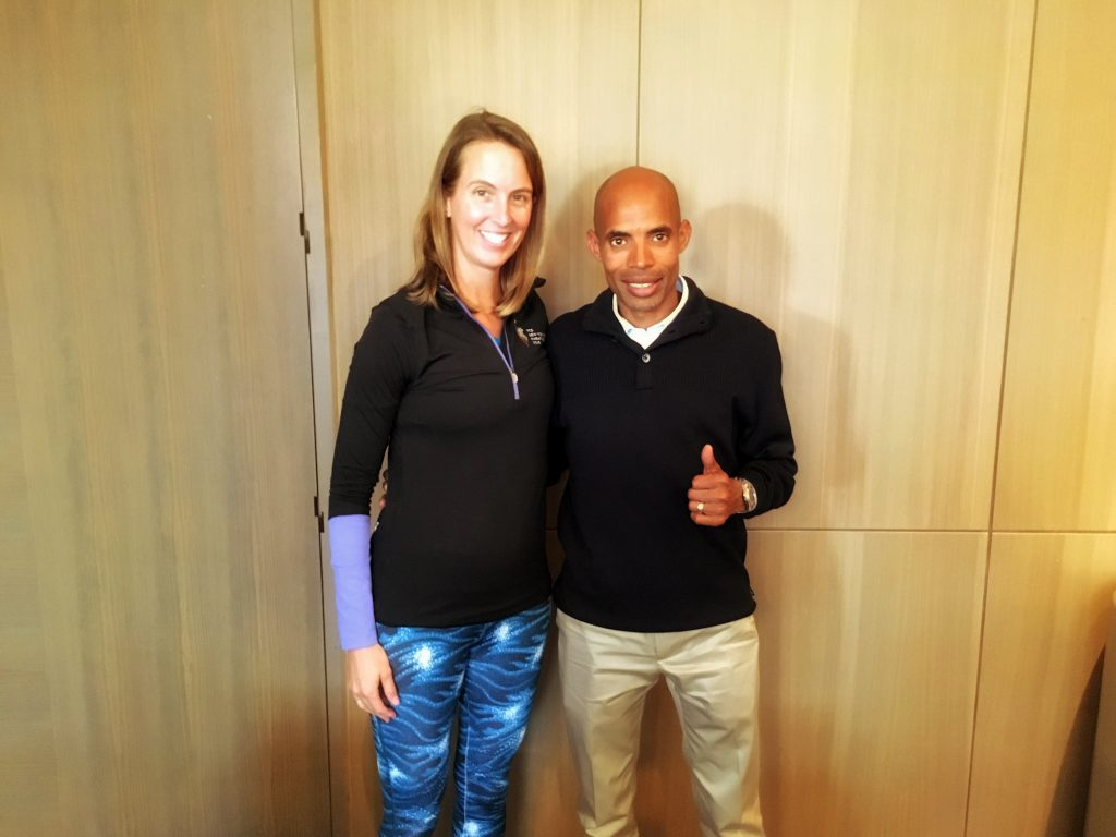 Meb and Organic Runner Mom at the NYC Marathon