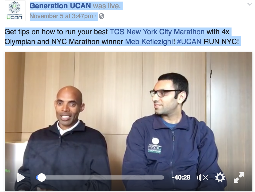 Meb and Generation UCAN