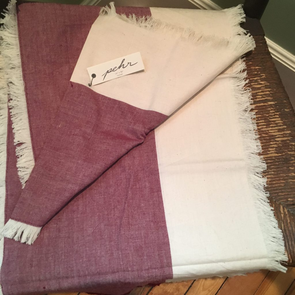 PEHR Chambray Runner in Wine