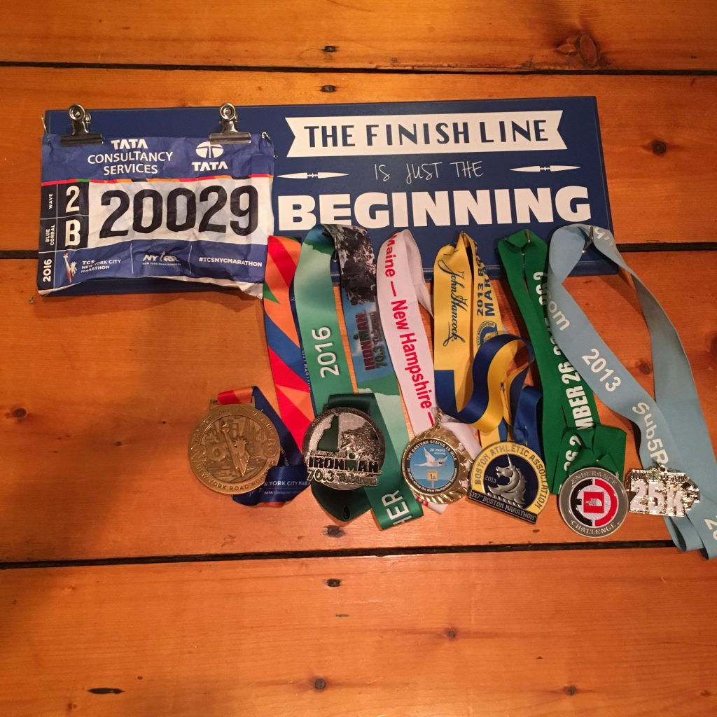 Medal Display from Spark Running Company to share off your running goals