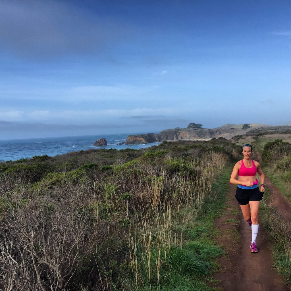 Running on the Big Sur Coastline