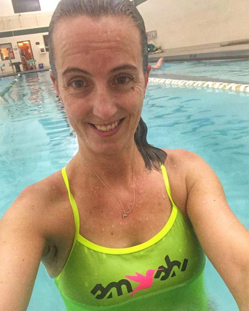 Still making time for swimming during Boston Marathon training. triathlon season will soon be here!
