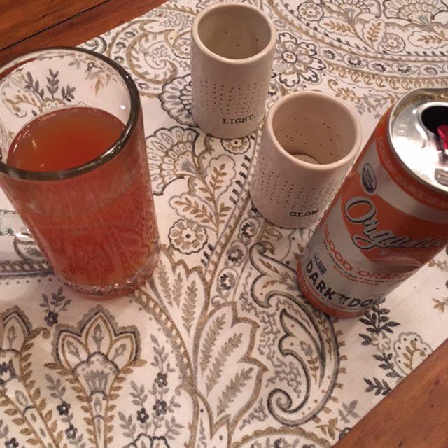 Try the Dark Dog Organic Energy Drink Blood Orange Flavor