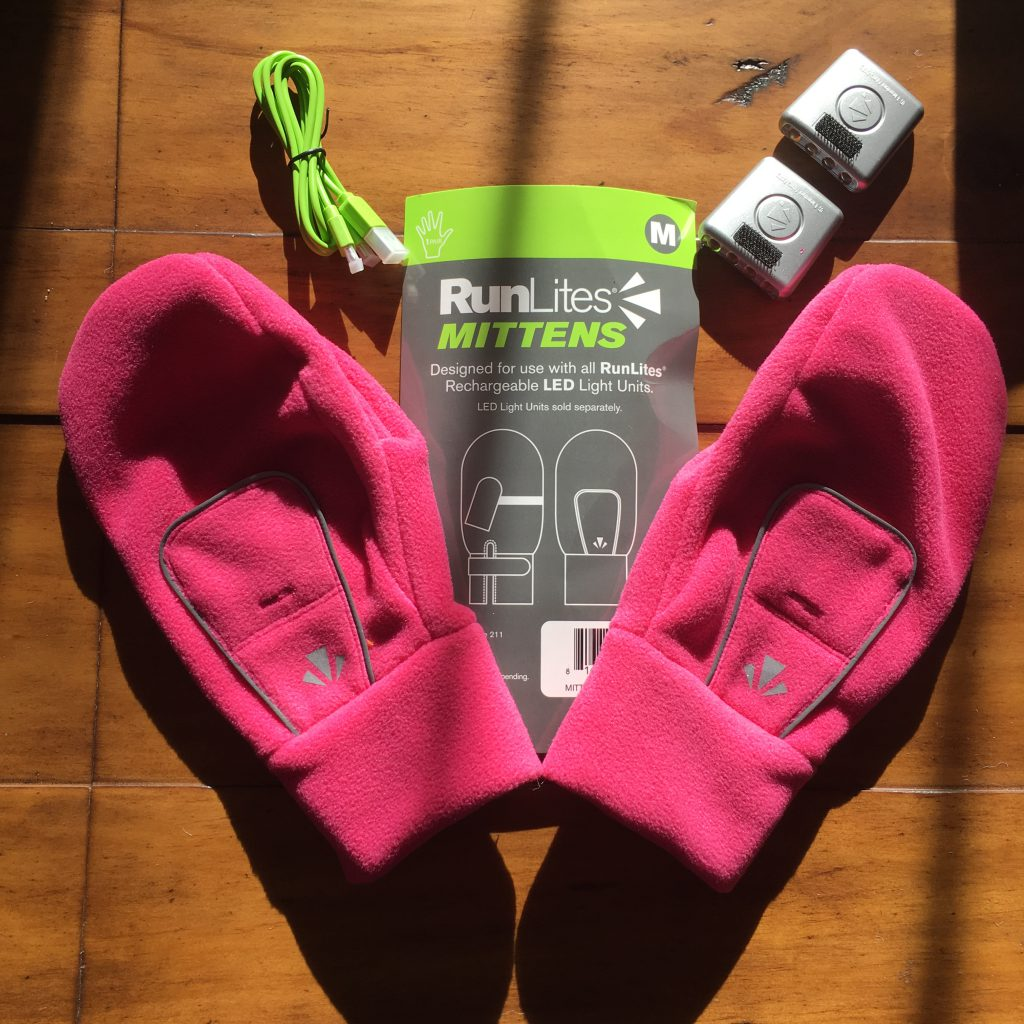 RunLites Mittens for Running Safety in the dark