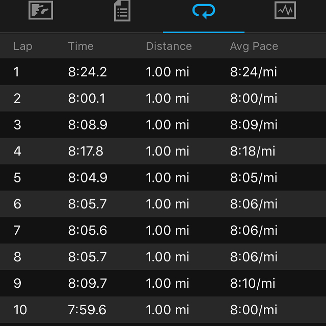 10 milers slower pace.