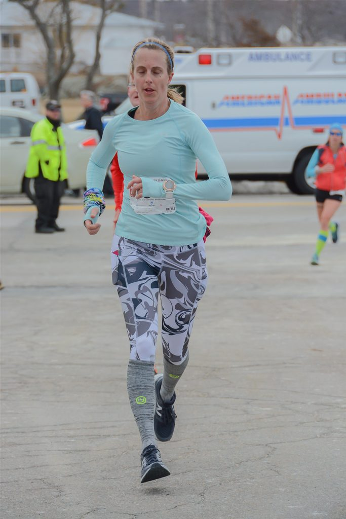 Giving it my all into the finish