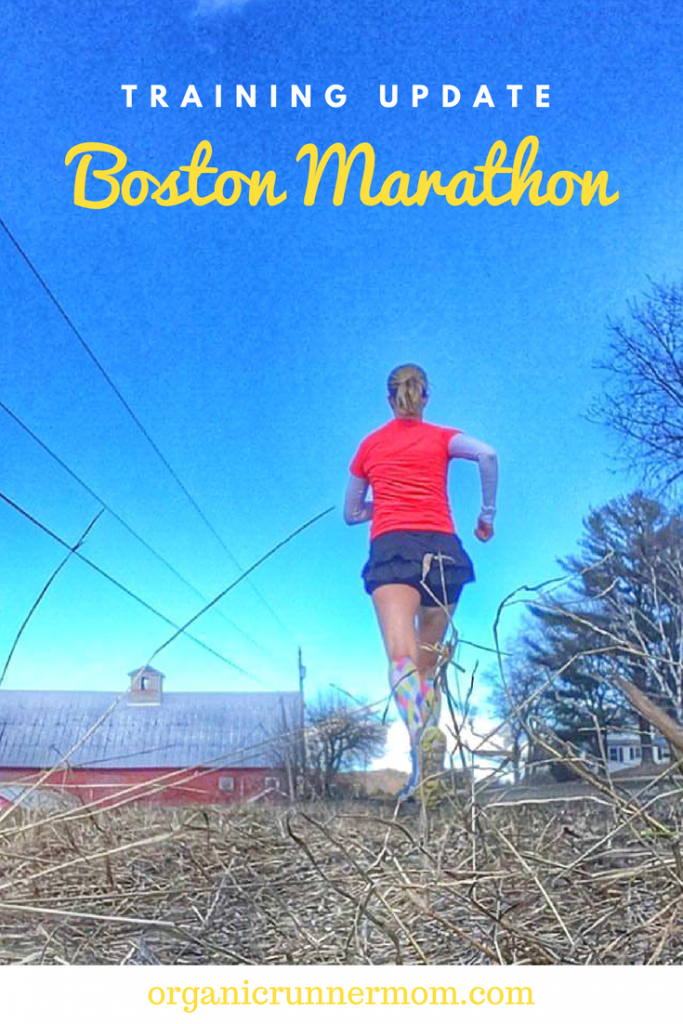 Boston Marathon training Update. Wearing Red for International Women's Day