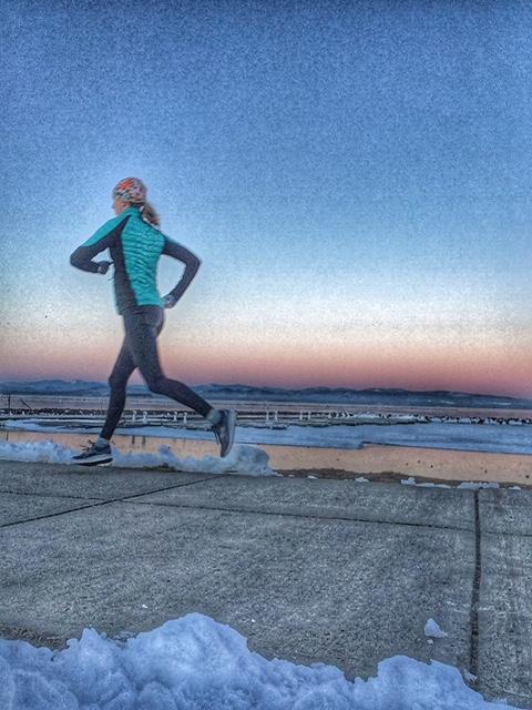 Running towards my goals.