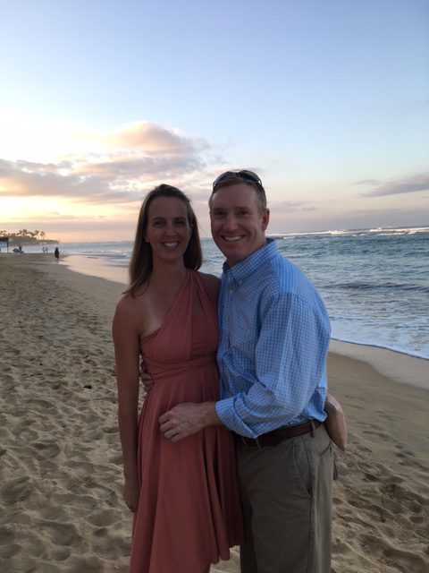 Enjoying the beach post ceremony.