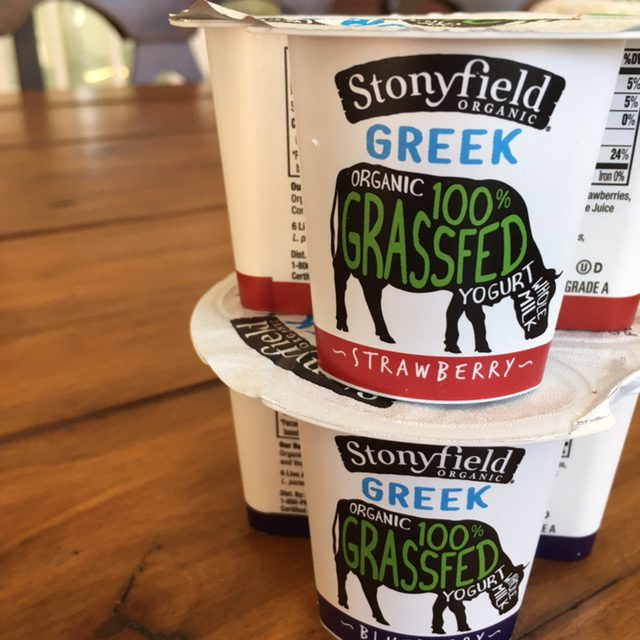 Stonyfield Organic Greek 100% Grassfed Yogurt