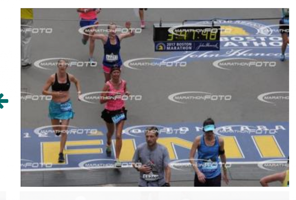 Running with heart through the Boston Marathon Finish Line