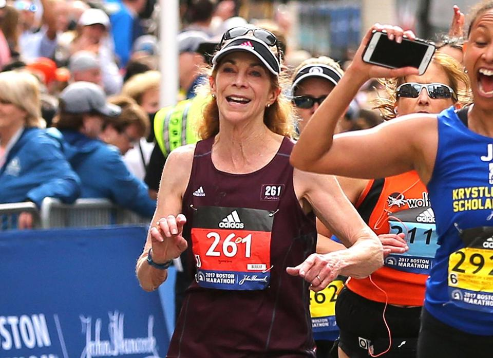 Kathrine Switzer completes the 2017 Boston Marathon on the 50th anniversary of her first time in 1967.