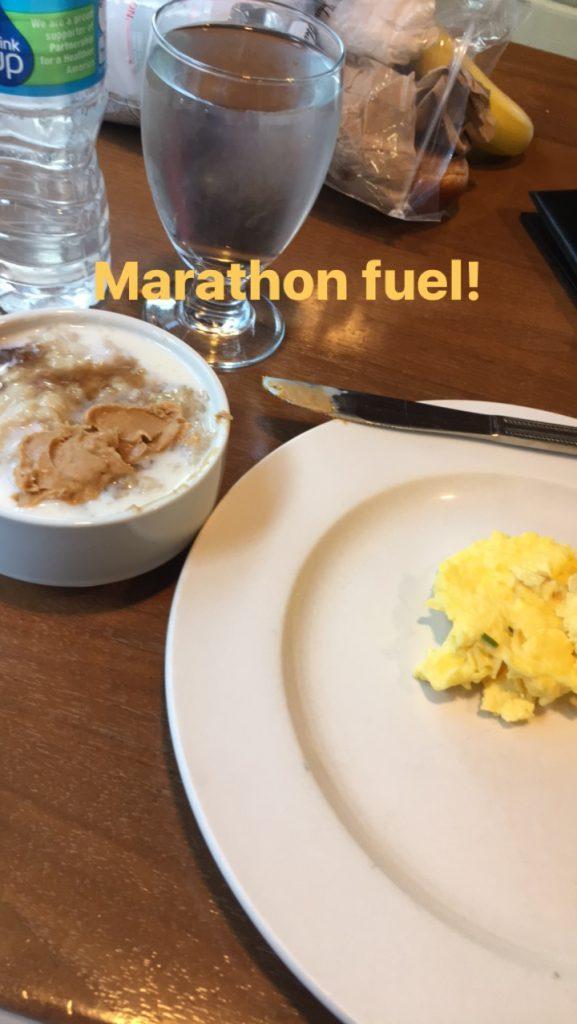 Pre-marathon breakfast